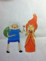 Finn and Flame Princess by Whiskers-the-Cat