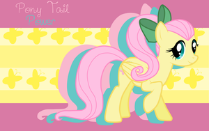 Pony Tail Power Fluttershy WP by AliceHumanSacrifice0