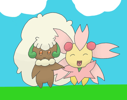 Whimsicott And Cherrim by 4themindandsoul