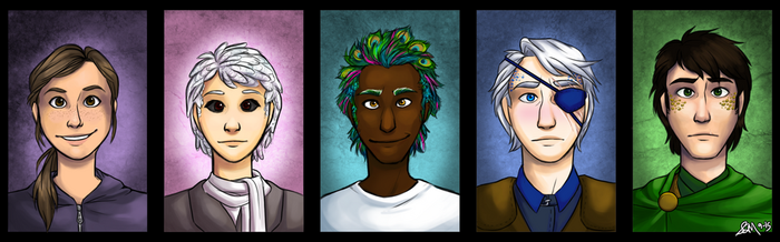 The Girl At Midnight Characters by Blairaptor