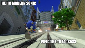 Jackass Modern Sonic Edition by CreativeArtist-Kenta