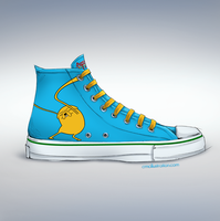Adventure Time Chuck Taylor by Aioras