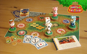 Animal Crossing amiibo festival board game display by NBros