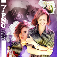 PNG Pack (162) Lily Collins by IremAkbas