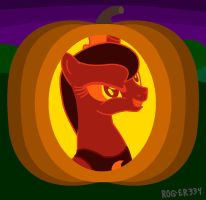 Luna Jack-O'-Lantern (On) by Roger334
