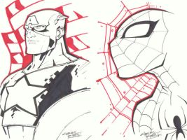 sketchy : Cap Spidey by KidNotorious