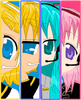 The Vocaloids by DororoXPenana