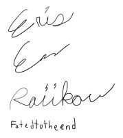 Signatures by Fatedtotheend