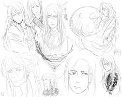 Gakupo sketches by DeviantTear