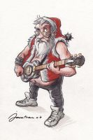 Hardcore Santa Claus by tonton-jojo