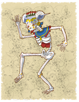 Mictlantecuhtli by CellsArt