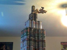 Beer Can Empire State Building (2/2) by TwistedMethodDan