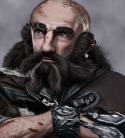 Holiday Art Practice 6: Dwalin revisited by IdaHarra