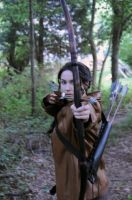 Katniss Everdeen - Hunting by moonflower-lights