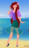 Ariel on the Beach by keb17