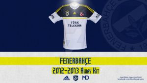 Fenerbahce 2012 2013 Away Kit by Meridiann