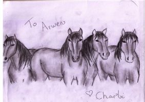 Horses for my neice by rachelegranger