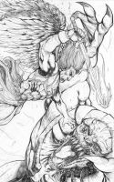 Lost Angels Cover B lineart by xavor85