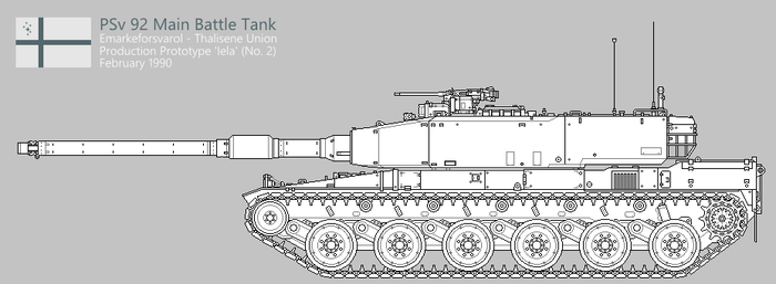 PSv 92 Main Battle Tank [Uncoloured] by SixthCircle