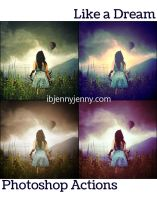 FREE Like A Dream Photoshop Actions by ibjennyjenny