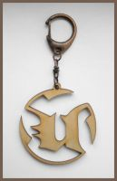 UNREAL - wood keyring by Piciuu