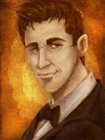 Dick Roman portrait by nupao