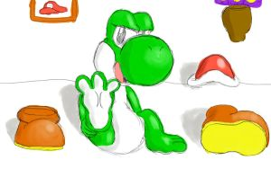 Female Yoshi Shows her Foot by Pokecrz