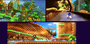 Green Hill Zone Generations Advance by parrishbroadnax