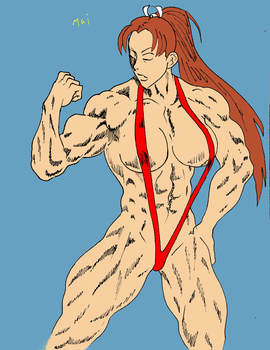 Mai Shiranui sketch by 187charger coloring by chipperpip