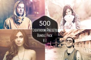 50% OFF on 500 Pro Lightroom Presets Bundle Vol.1 by symufa
