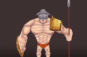 Low Poly Gladiator Character by gilesruscoe