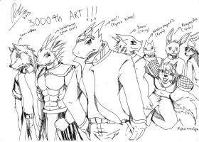 The 3000th Art-My Best friends by DarkDragon563