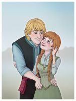 Kristoff+Anna in Summer by Loony-Lucy