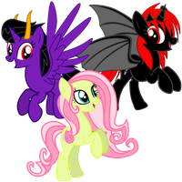 Dark Blaze and Cutie and Flower by CutesieArt