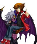 Judai and Yubel by Ycajal
