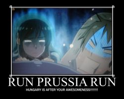 Run Prussia! Motivational Poster by SoroLupus