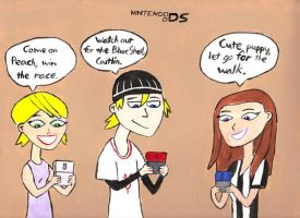 6teen playing the DS by DJgames