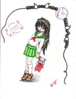 Kagome and Inu Plushie by rabbitgirl316