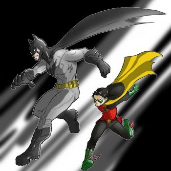 Batman and Robin by Sktchman