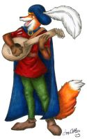 Fox Bard - WIP by hollyann
