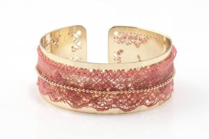 FREE SHIPPING Idit Stern Gold And Lace Cuff Bracel by iditstern