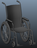 Manual Wheelchair (untextured) by JasonXL