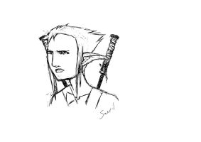 Sketch - Saeril by wunleebuxton