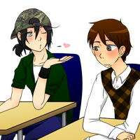 Stop flirting in class... by PochiMochi