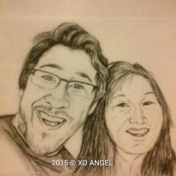 Markiplier and Momiplier by jadewolfe69