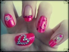 Pink Strass Love by ViiviASD