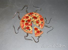 Pizza Slice Earrings by JessiArts