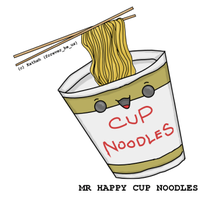 Mr Happy Cup Noodles by Katheh