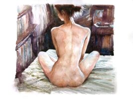 Girl on bed 2 by juepaap