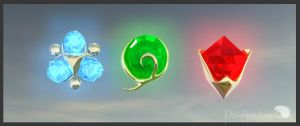 Spiritual stones of the legend by Dinfreal